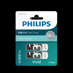 Philips USB flash drive Vivid Edition 32Go, USB3.0, 2-pack